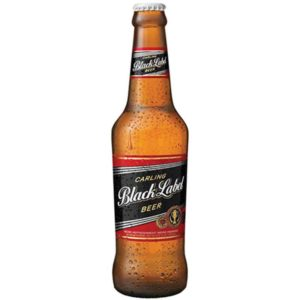 Carling Black Label Beer Bottles 24 x 340ml