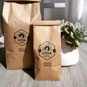Luna Coffee beans and filter